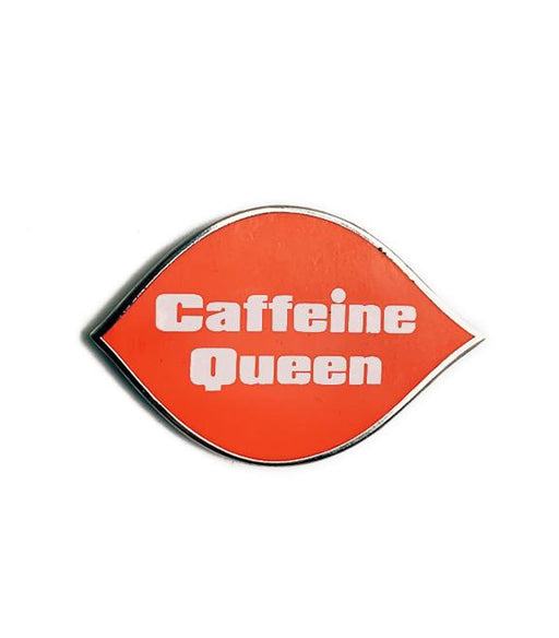 DOB Caffiend Caffeine Queen Logo Pin