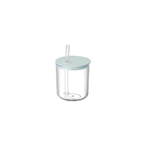 KINTO BONBO Child's Straw Drinking Cup Blue Grey