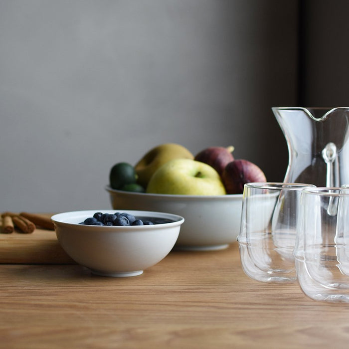 KINTO RIM Small and Large Bowls with KRONOS Glassware