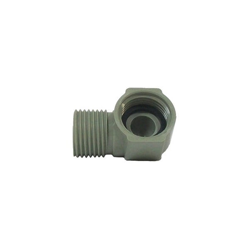 "1/2"" F NPT x 1/2"" M BSP Nylon 90 for Counter Top Pitcher Rinsers"