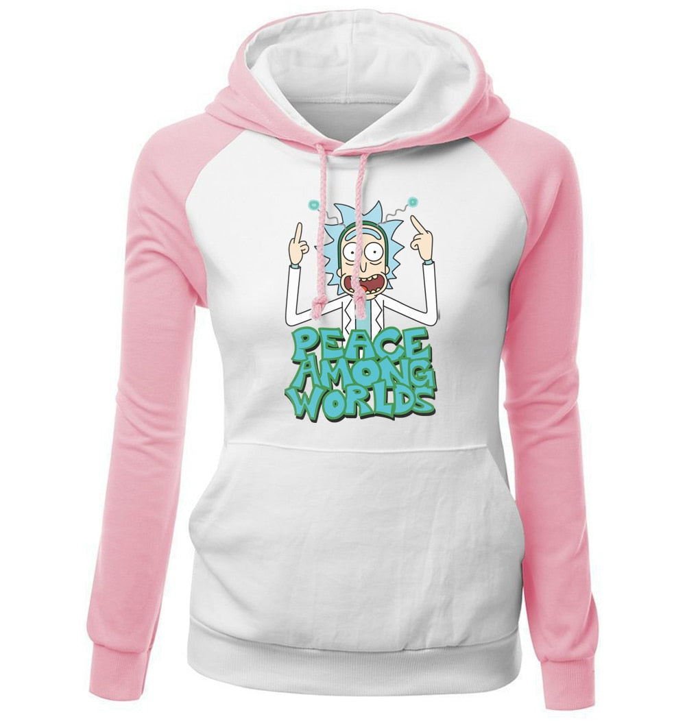RICK and MORTY PEACE AMONG WORLDS Raglan Hoodie