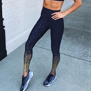 Graffiti Print Leggings High Waist Exercise Leggings