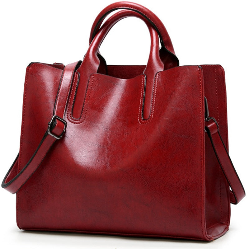 Leather Bags Women Big Top-handle Bags Ladies Hand Bags Women Tote Bag Female Shoulder Black Bag Clutch Bag Sac A Main Femme