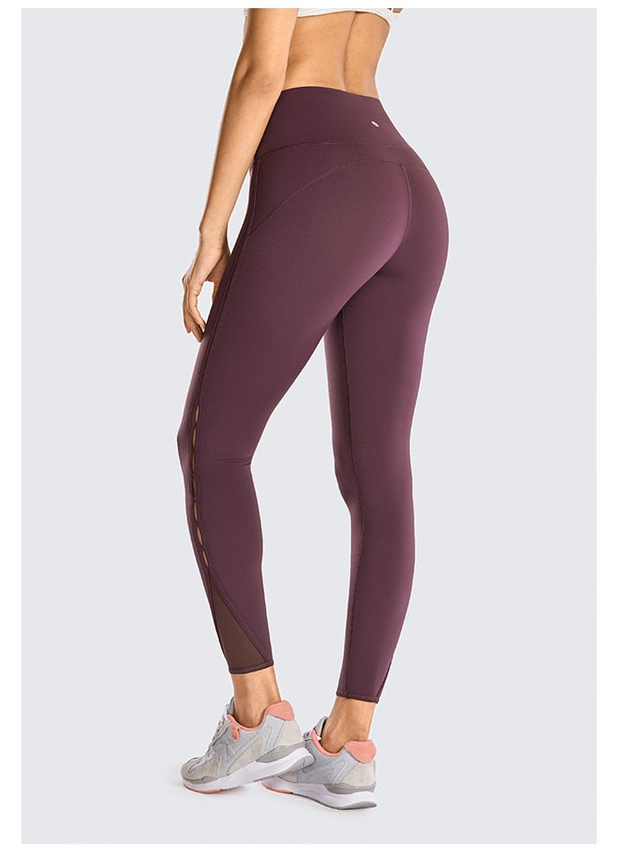 Women's Naked Feeling High Waist 7/8 Tight Yoga Pants Workout Leggings -25 Inches