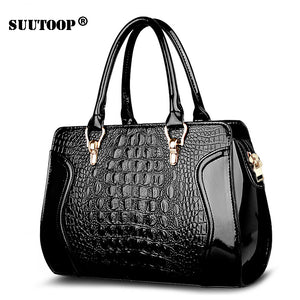 New Crocodile Women Handbag PU Leather over Shoulder Lady Bag Luxury Designer Female Crossbody Messenger totes for feminina 2019
