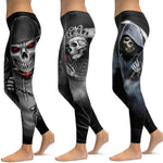 LI-FI Sexy Push Up Gym Wear Elastic Slim Workout Leggings Skull Leggings Yoga Pants Women Sports Pants Fitness Running