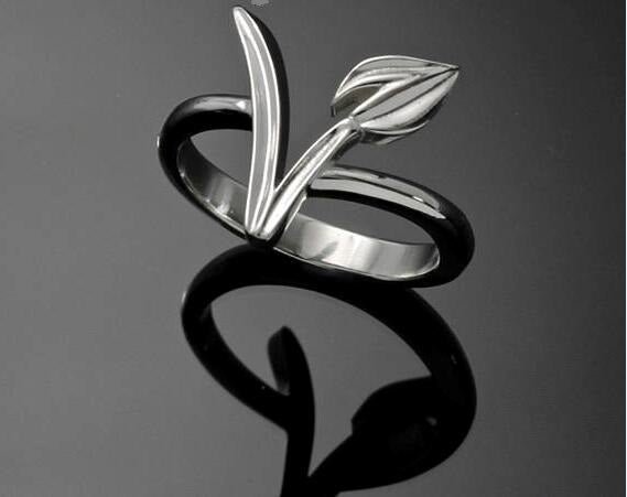 Vegetarianism Symboly Vegan Ring Gegetarian Gift Simply Style Wedding Bridesmaid Party Birthday Jewelry for women YLQ0651
