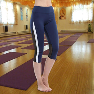 Capri Sport Fitness Yoga Pants Gym Mesh Leggings 3/4 Pants - Activa Star