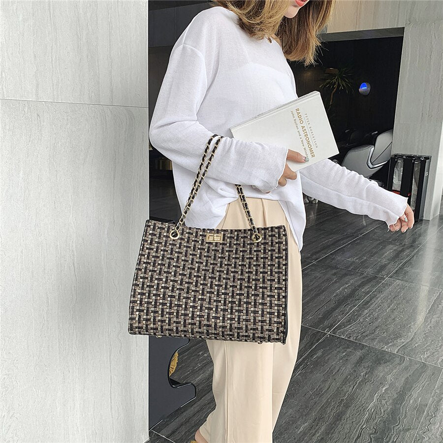 Luxury Designer Pu Leather Chain Women Shoulder Bag High Quality Large Capacity Ladies Crossbody Bags For Women Messenger Bags