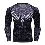 Men Compression Shirt Raglan Long Sleeve 3D Print Men T shirts Fitness Male Cross fit Tops Sportswear