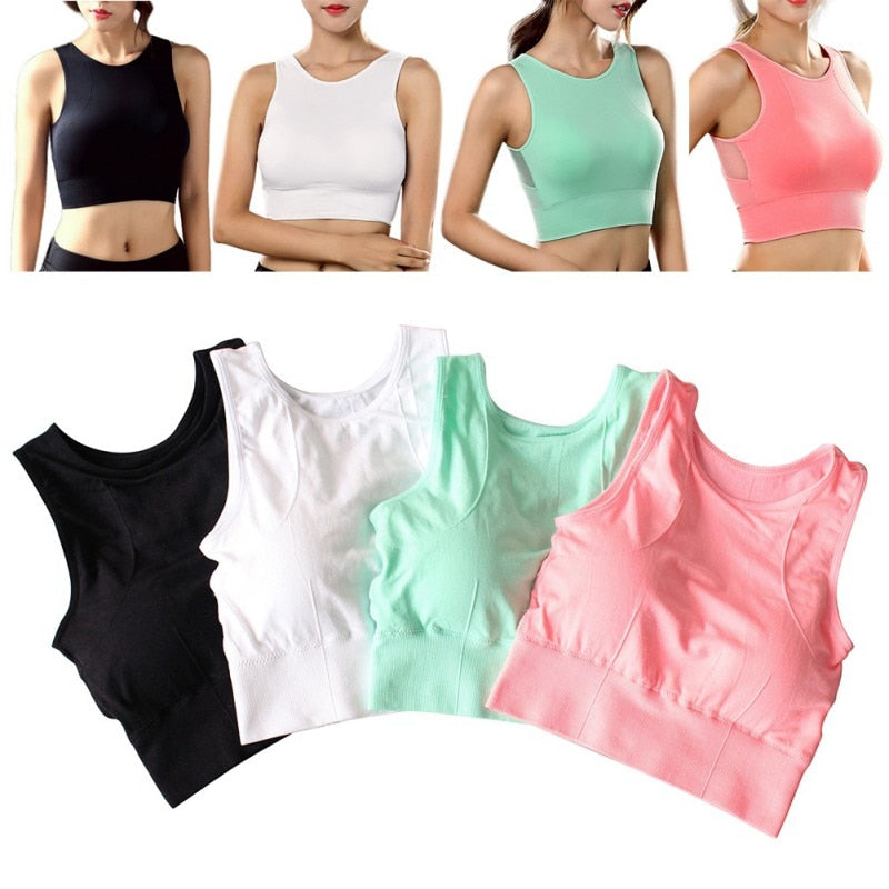 Breathable Mesh Shockproof Padded Athletic Seamless Yoga Vest Sport Bra - Activa Star