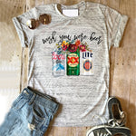 Coors light shirt beer succulent tshirt beer tee drinking tops girls summer miller lite top mama clothes print shirts