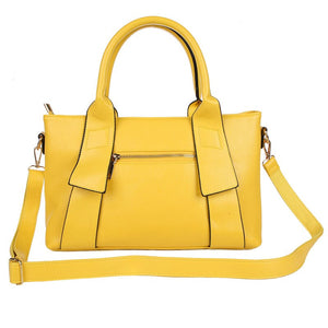 Yellow Handbag Women Bag PU Leather Blue Hand Bag Black Famous Brand women messenger bag Luxury Designer bolsa feminina  W805