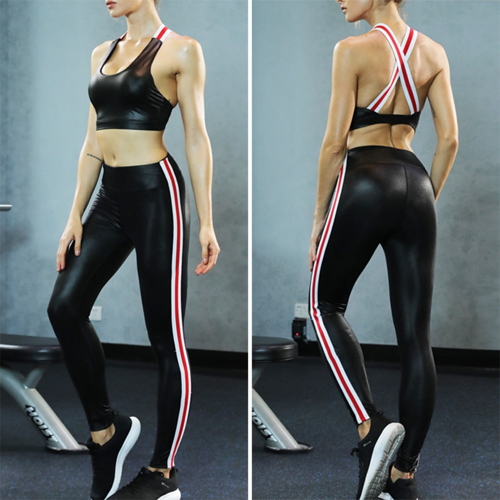 Ariella Yoga Fitness Top + Leggings - 2 Piece Set - Activa Star