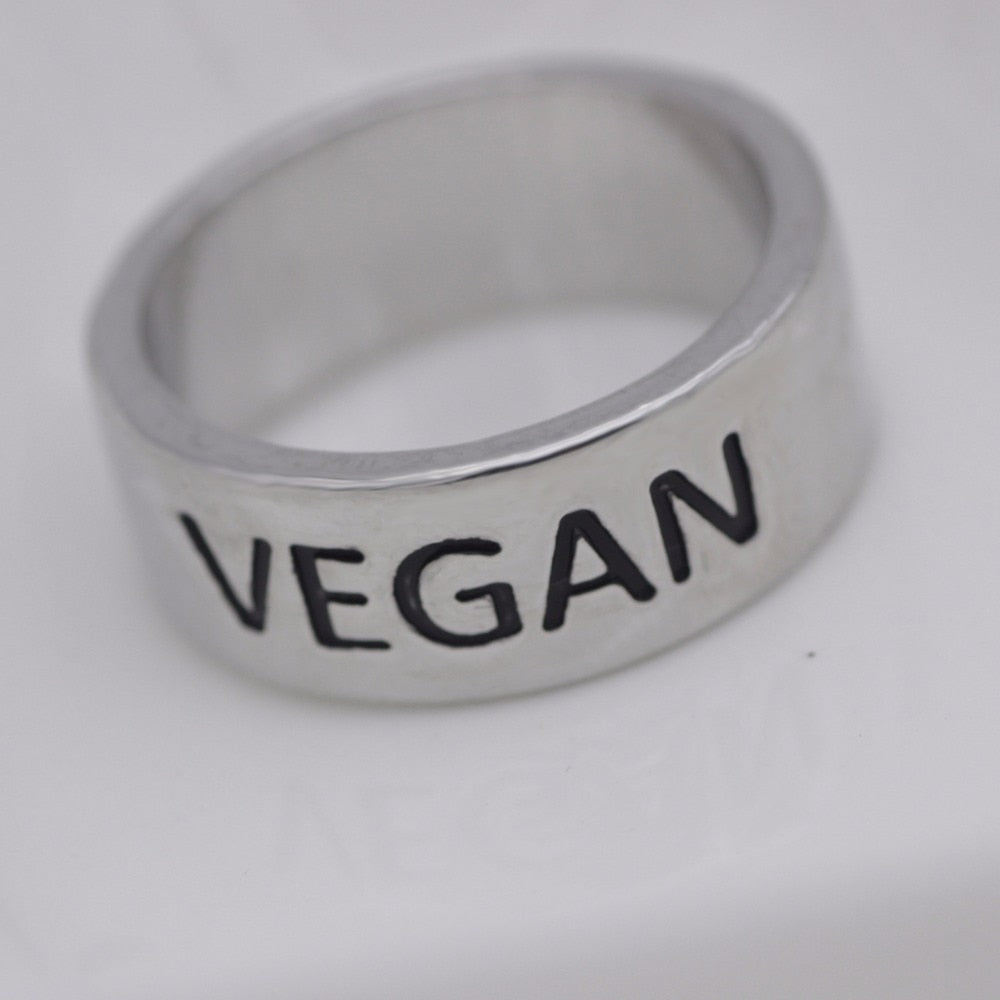 Vegan Ring Jewelry Wedding Promise Band A Gift for Vegetarian  YLQ0537