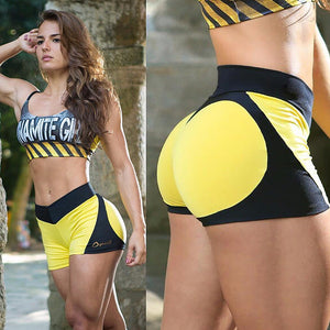 High Waist Heart Shape Fitness Shorts - Activa Star