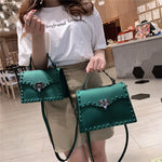 High Quality Women PVC Handbags Fashion Ladies Shoulder Bag Luxury Designer Crossbody Bags for Women Small Rivet Messenger Bags