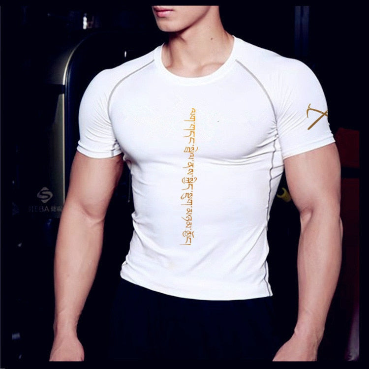 Men Tshirt Compression Fitness Tights Running Shirt Gym Blouse Yoga Sport Wear Exercise Muscle Sport Man's T-Shirt