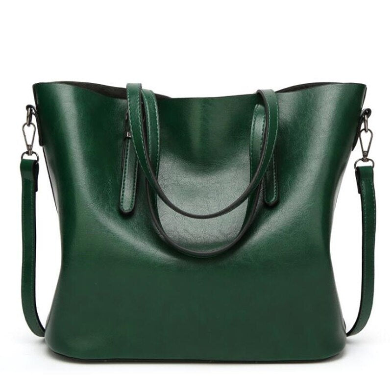 FGJLLOGJGSO Women bag Oil wax Women's Leather Handbag Luxury shoulder bag Lady Hand Bags With Purse Women messenger bag Big Tote
