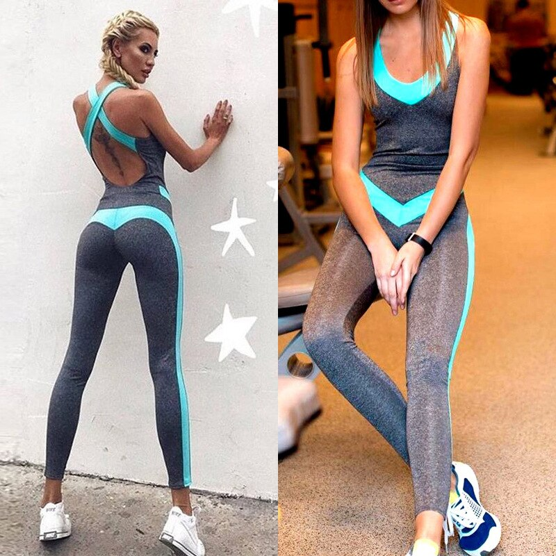 Women Yoga Sets Siamese Gym Wear Running Clothing Fitness Set Sport Suit Tracksuit Sexy Ensemble Sportswear Jumpsuits,ZF253