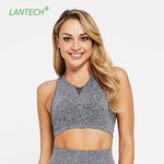 LANTECH Sports Bra Yoga Sportswear Push Up Joggings Running Top Training Women Fitness Gym Bra Seamless Workout  Activewear