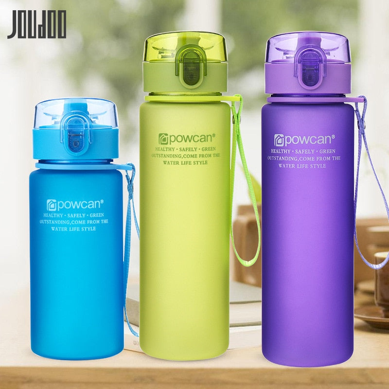 JOUDOO 400ml 560ml  Portable Leak-proof Water Bottle High Quality Tour Outdoor Bicycle Sports Drinking Plastic Water Bottles