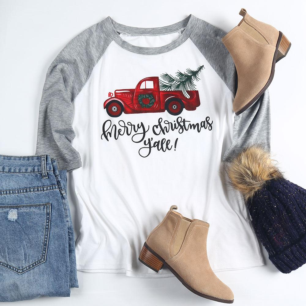 Merry Christmas Y'all Baseball Cute T-Shirt