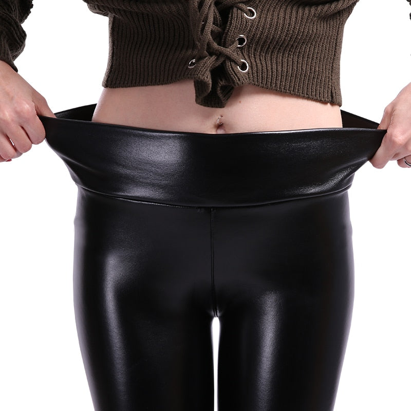 Millie Faux Leather Leggings - Activa Star