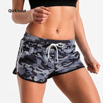 Grey Camo Fitness Shorts XS-XL
