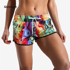 Lycra Metallic Rave Booty Fitness Shorts