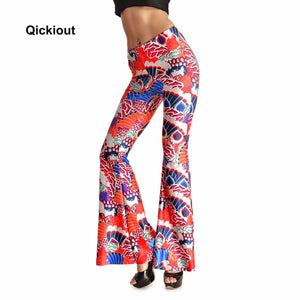 Bell Bottom Printed Leggings