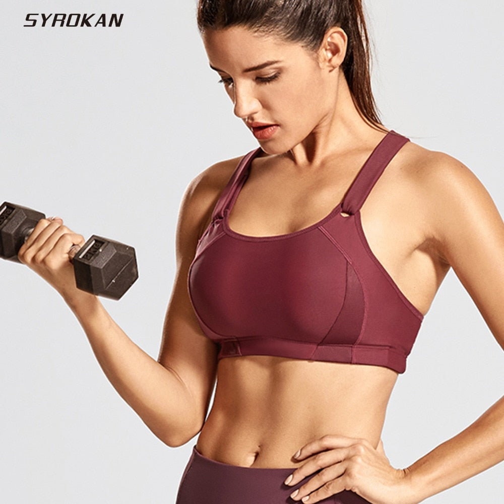 Women's Front Adjustable High Impact Lightly Padded Sports Bra