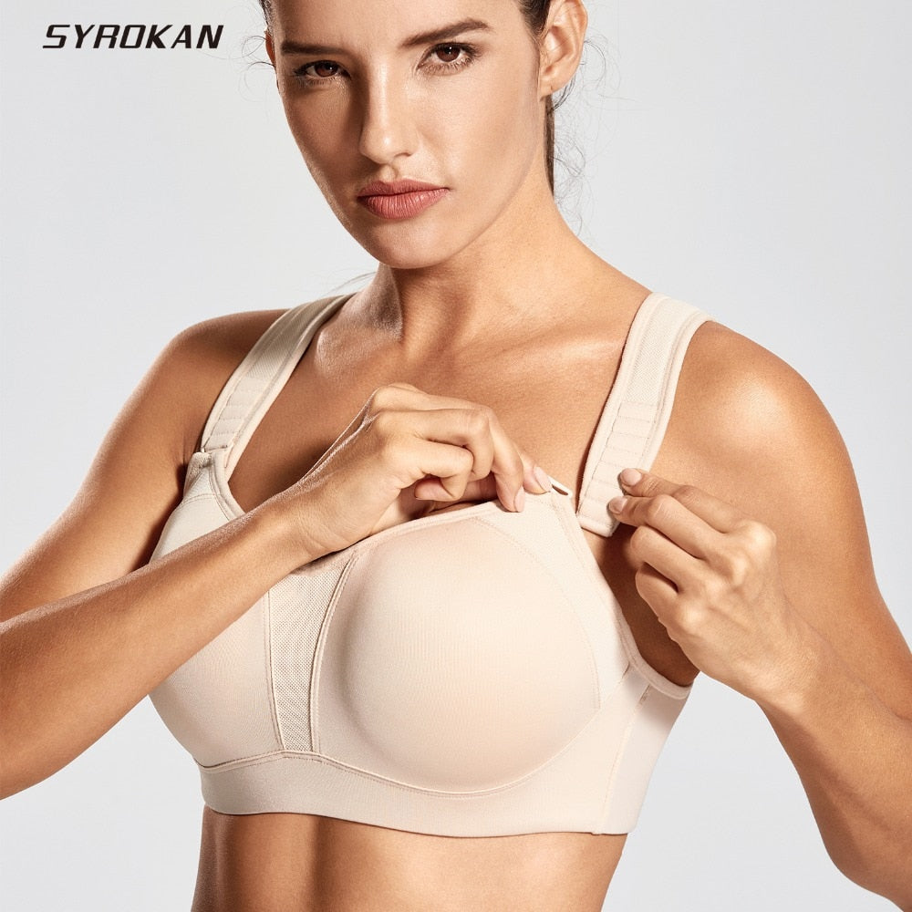 Women's High Impact Full Support Underwire Padded Contour Plus Size Sports Bra