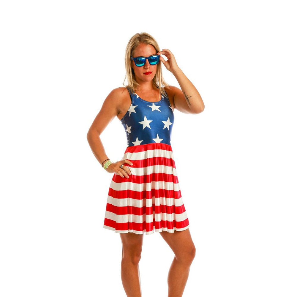 USA Flag Casual Dress