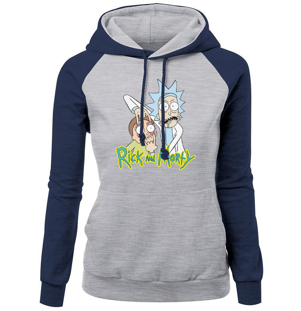 RICKY AND MORTY Fleece Raglan Hoodie