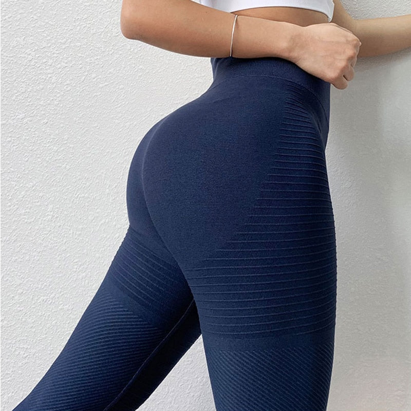 Women Energy Seamless Sports Yoga Pants Fitness Leggings Gym Running Workout High Waist Tight Tummy Control Hip Lifting