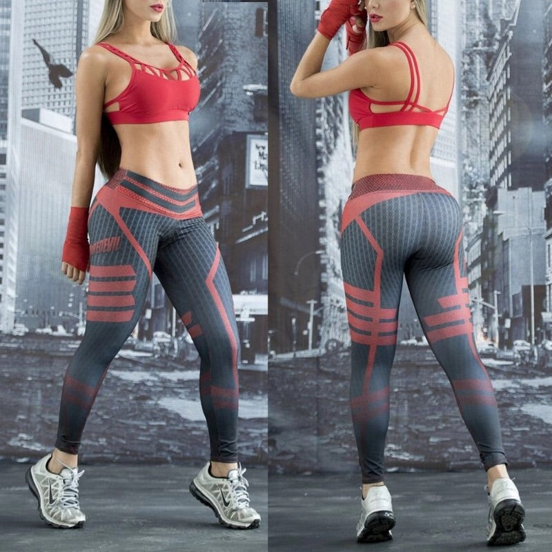 Amari 3D Print Active Leggings - Activa Star