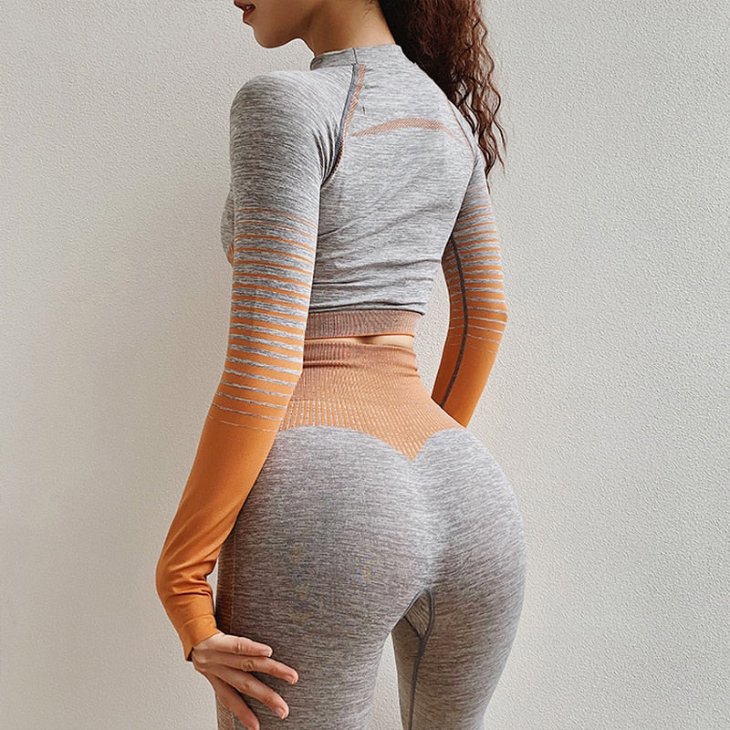 Aliya Active Sport Top + Leggings - 2 Piece Set