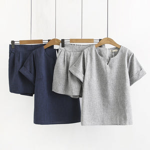 Beatriz Casual Cotton Linen Two Piece Set