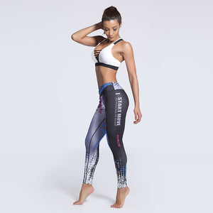 Adalina Creative 3D Printed Active Leggings S-XXXL - Activa Star