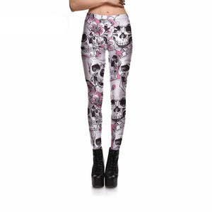 Blossomed Skull Leggings