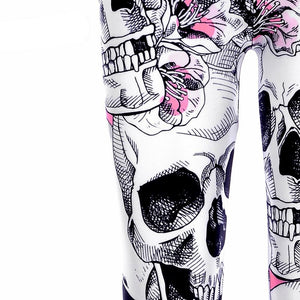 Blossomed Skull Leggings - Activa Star