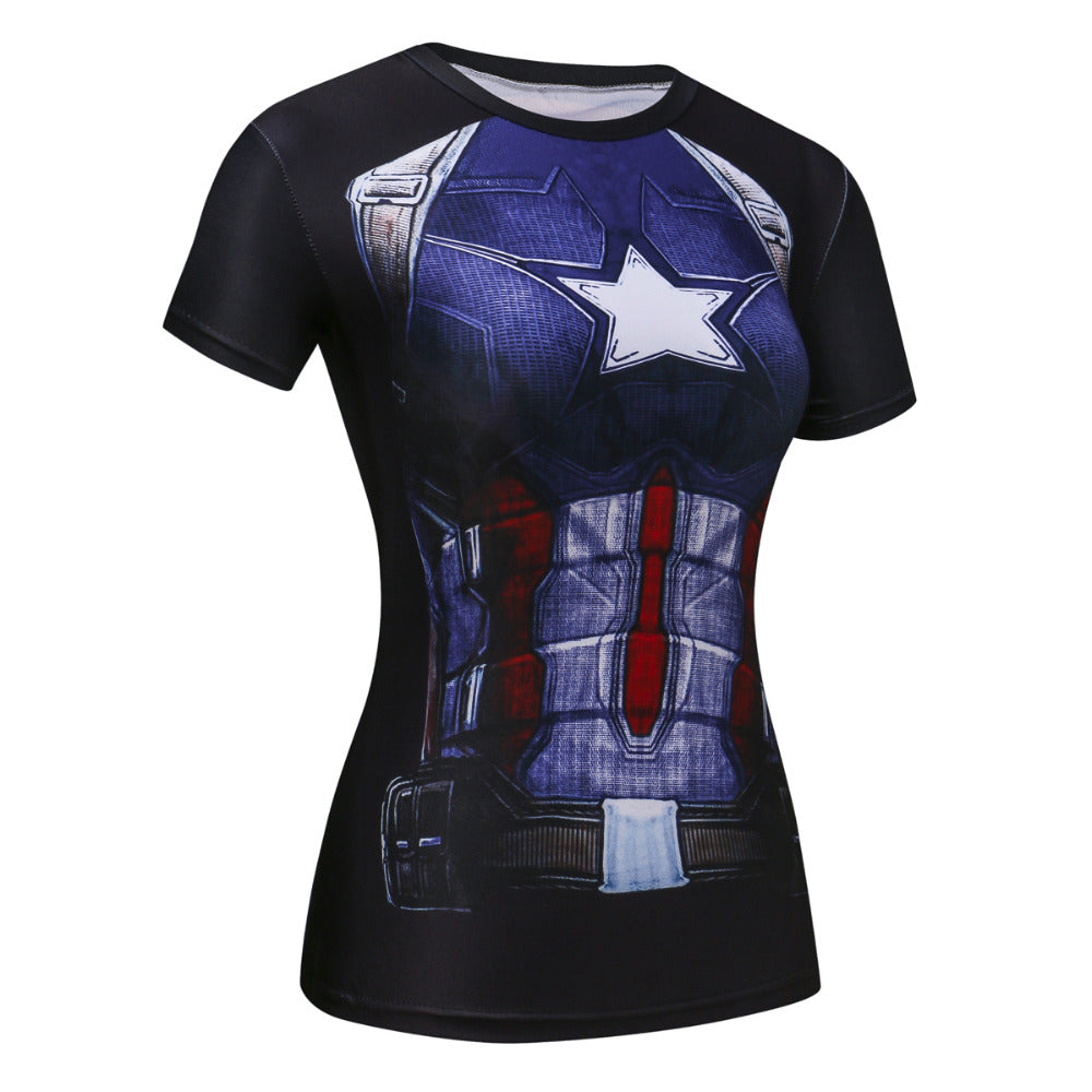 Women Superhero Compression T Shirt - Activa Star