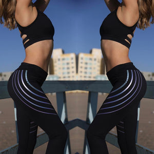 Alany Glow in the Dark Stripes Active Leggings - Activa Star