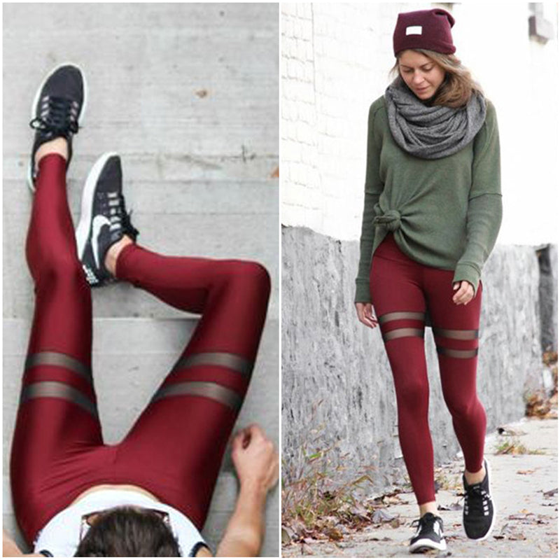 Beasty Patchwork Mesh Fashion Fitness Leggings - Activa Star
