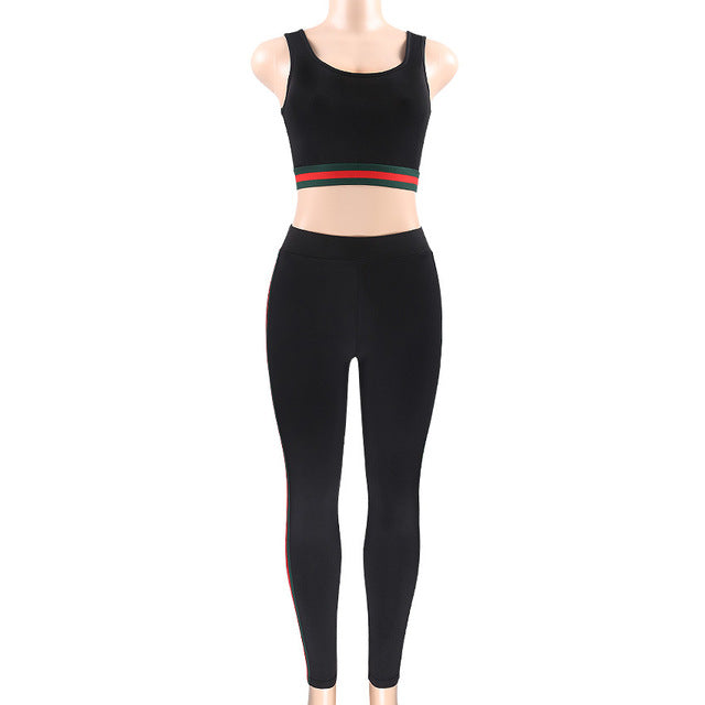Bell Crop Top And Ankle Length Leggings 2 Piece Set - Activa Star