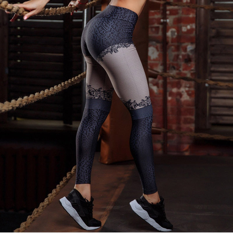 Laceprint Leggings - Activa Star