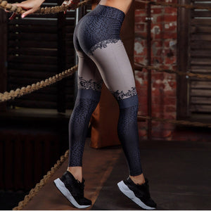 Lace Print Leggings - Activa Star