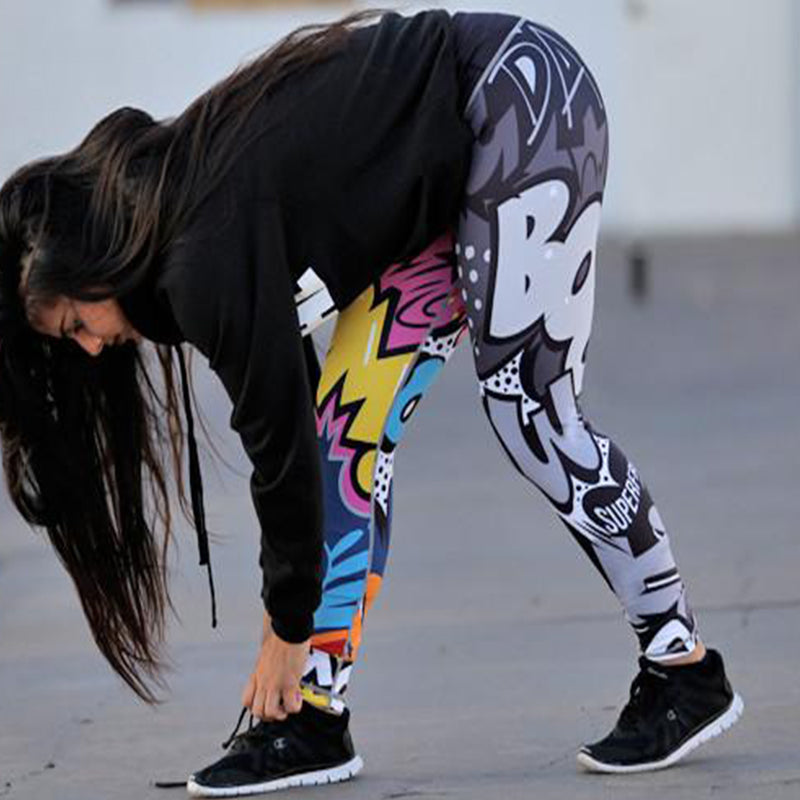 Funny Harajuku Printed Fitness Leggings - Activa Star