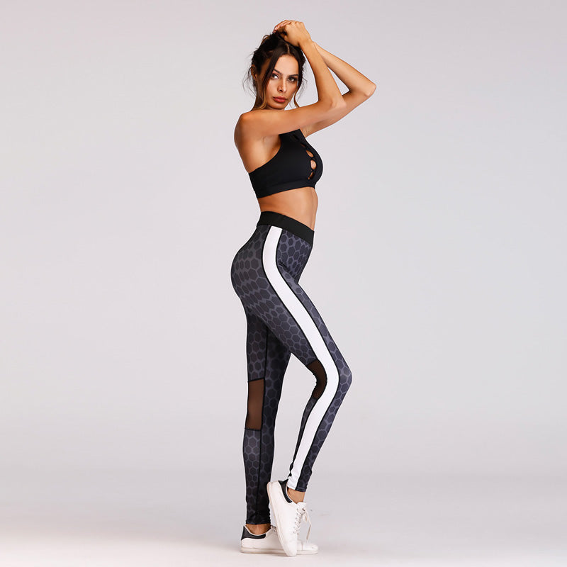 Journey Mesh Patchwork Leggings - Activa Star